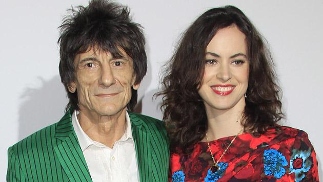 Ronnie Wood hat 31 Jahre jüngere Sally geheiratet (Bild: AP)