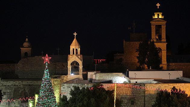 Weihnachten in Bethlehem, dem Geburtsort Jesu (Bild: EPA (Archiv))