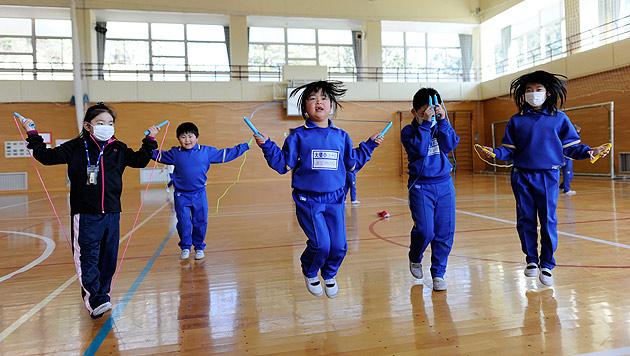 Kinder in Fukushima nach Atomunfall immer dicker (Bild: EPA)