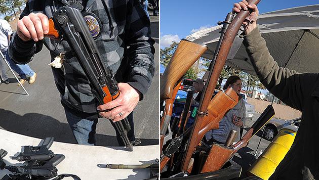 Kuriose Aktionen in den USA nach dem Newtown-Drama (Bild: AFP)