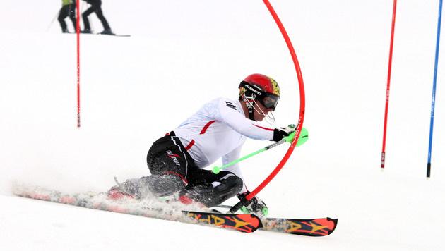 ÖSV-Slalom-Asse trainieren am WM-Hang in Schladming (Bild: APA/EXPA/ Martin Huber)