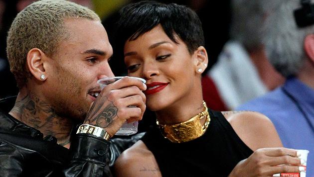 Rihanna verbrachte Weihnachten mit Chris Brown (Bild: AP)