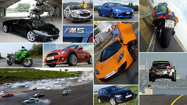 Der subjektive Rückblick: Best of Auto & Motorrad (Bild: Stephan Schätzl, krone.tv, DC Shoes, Daimler, BMW, Bil Magasinet)