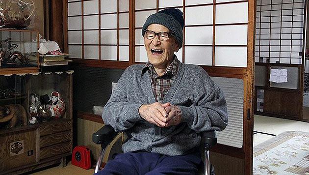 Japaner nun offiziell �ltester Mann, der jemals gelebt hat (Bild: EPA)