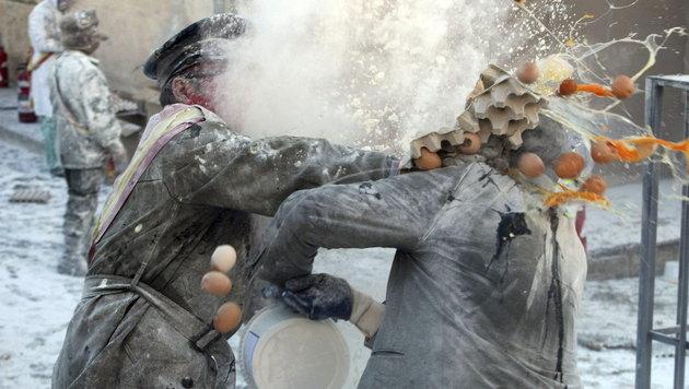 """""""Mehl-Rebellen"""" erobern spanische Kleinstadt (Bild: EPA)"""