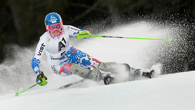 Nur Velez-Zuzulova am Semmering schneller als Zettel (Bild: APA/ROLAND SCHLAGER)