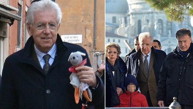 I: Wahlkämpfender Mario Monti auf Low-Cost-Urlaub (Bild: EPA)