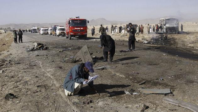 Pakistan: 20 Tote bei Anschlag auf Pilgerbusse (Bild: dapd)