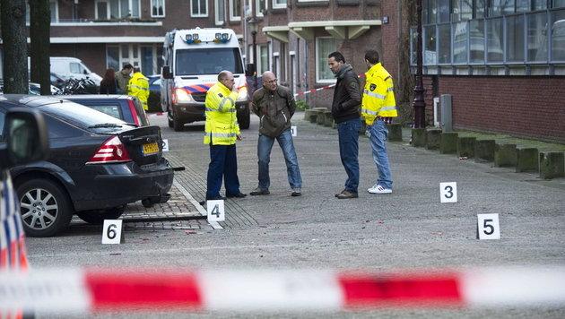 Schießerei in Amsterdam fordert zwei Tote (Bild: EPA)