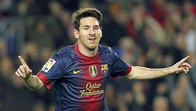 So ging Superstar Messi 2012 in die Geschichte ein (Bild: EPA)