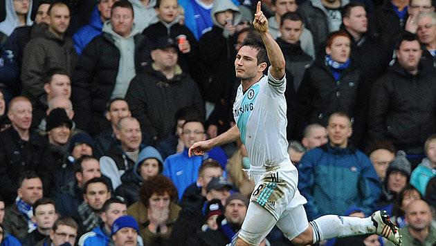 Zwei Lampard-Tore sichern Chelsea 2:1-Auswärtssieg (Bild: EPA)