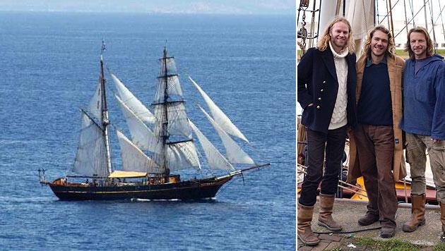 Austro-Segler rettet deutsche Jacht im Atlantik (Bild: svtreshombres.homestead.com, APA/TRES HOMBRES/ELISE KOSSEN)