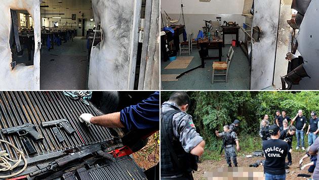 Brasilien: Mehrere Tote bei Überfall auf Edelsteinfabrik (Bild: AFP)