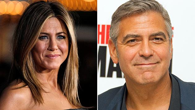 Jennifer Aniston hatte Doppel-Date mit George Clooney (Bild: dapd)
