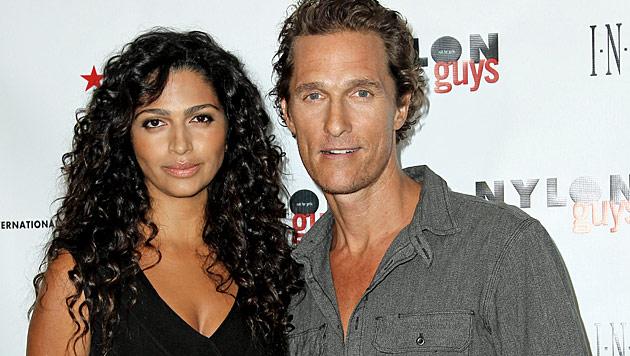 US-Star Matthew McConaughey verr�t Babynamen (Bild: dapd)