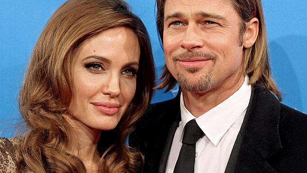 Angelina Jolie und Brad Pitt: Hochzeit angeblich im Mai (Bild: dapd)