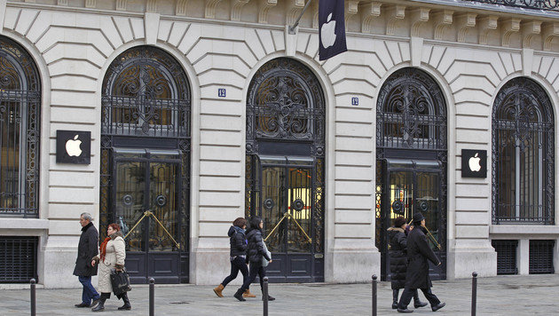 Pariser Apple-Store am Silvesterabend ausgeraubt (Bild: AP)