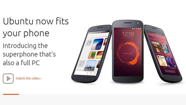 Ubuntu wagt den Sprung aufs Smartphone (Bild: Screenshot Ubuntu.com)