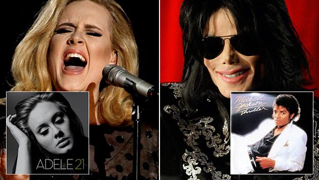 Brit-Star Adele zieht mit Michael Jackson gleich (Bild: sonymusic, dapd)