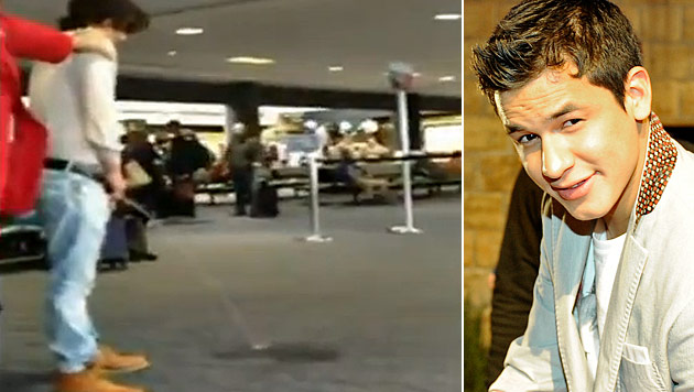 """Twilight""-Star sorgt am Flughafen f�r Pinkel-Skandal (Bild: Screenshot YouTube, dapd)"