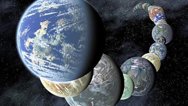Unsere Milchstra�e beherbergt 100 Mrd. Planeten (Bild: NASA/AMES/JPL-Clatech (Symbolbild))