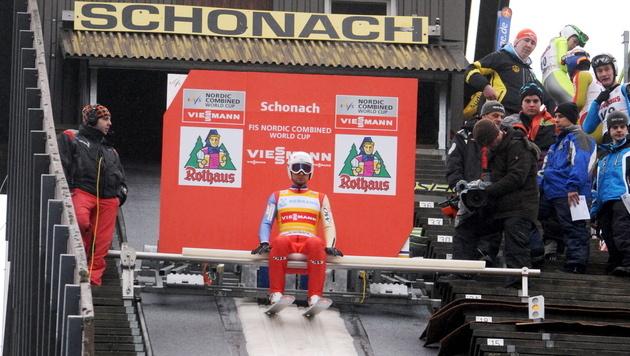 Österreichs Team holt in Schonach Platz vier (Bild: EPA)
