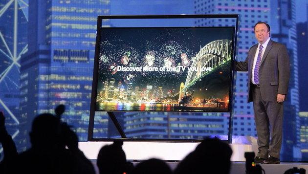 Größe ist Trumpf: Fernseher-Trends auf der CES 2013 (Bild: EPA)