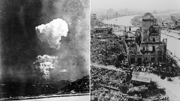 Atombombenabwurf auf Hiroshima: Rund 80.000 Menschen starben sofort, Zehntausende an den Spätfolgen. (Bild: AFP PHOTO / HONKAWA ELEMENTARY SCHOOL, EPA)