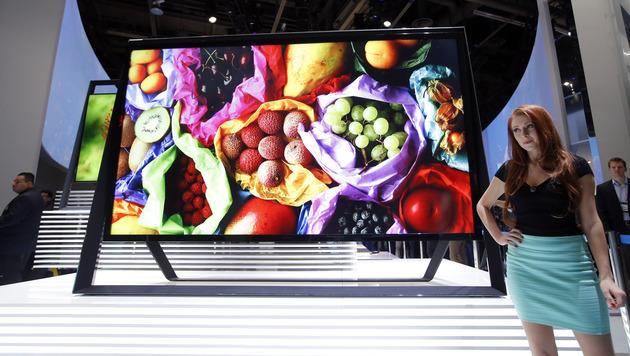 Größe ist Trumpf: Fernseher-Trends auf der CES 2013 (Bild: AP)