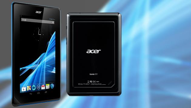 Iconia B1-A71: Mini-Tablet von Acer für 120 Euro (Bild: Acer, krone.at-Grafik)
