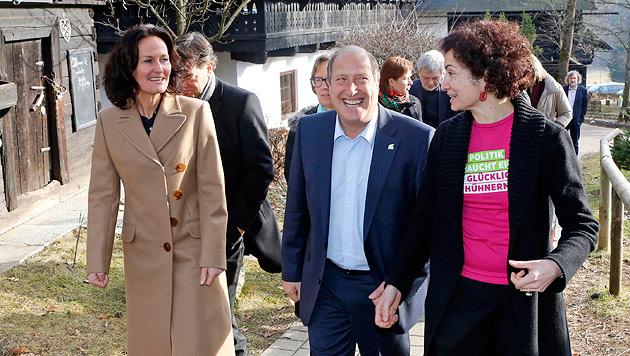 2013: Grüne wollen Zukunft Österreichs in die Hand nehmen (Bild: APA/GERT EGGENBERGER)