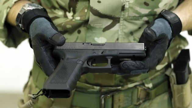 Waffenproduzent Glock fertigt nun in Bratislava (Bild: AP)