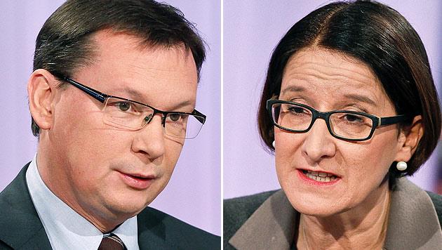 "Minister-Match im ""Wahlkampf"" um das Bundesheer (Bild: APA/MILENKO BADZIC/ORF)"