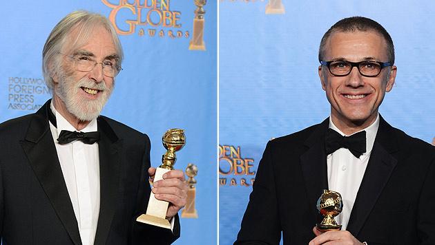 Erneut Globe-Ehre für Christoph Waltz und Michael Haneke (Bild: dapd/AFP)