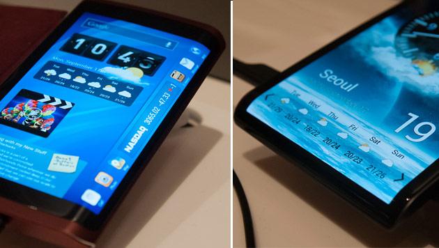 Aufnahmen zeigen Smartphones mit flexiblem Display (Bild: AnandTech.com)
