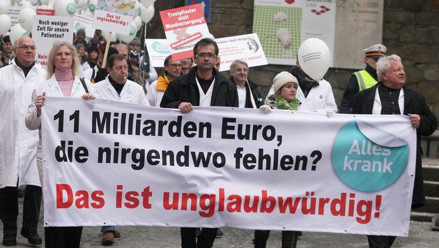 1.200 Arztpraxen blieben in OÖ geschlossen (Bild: APA/RUBRA)