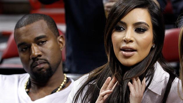 Kim Kardashian erwartet Baby von Kanye West im Juli (Bild: dapd)