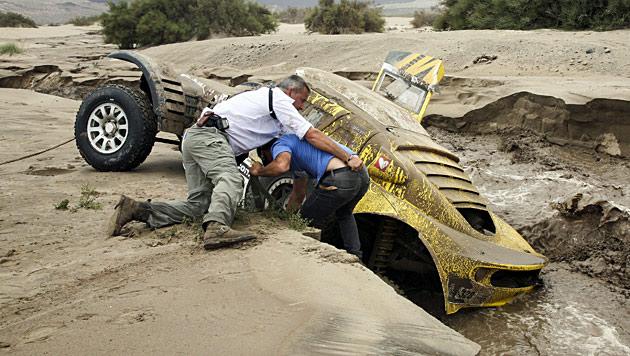 11. Etappe wegen Überflutungen zum Teil abgebrochen (Bild: dapad)