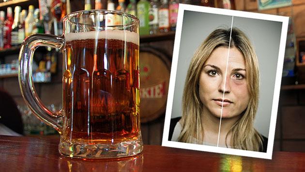 App klärt auf: So lässt Sie zu viel Alkohol altern (Bild: thinkstockphotos.de, drinksmarter.org, krone.at-Grafik)
