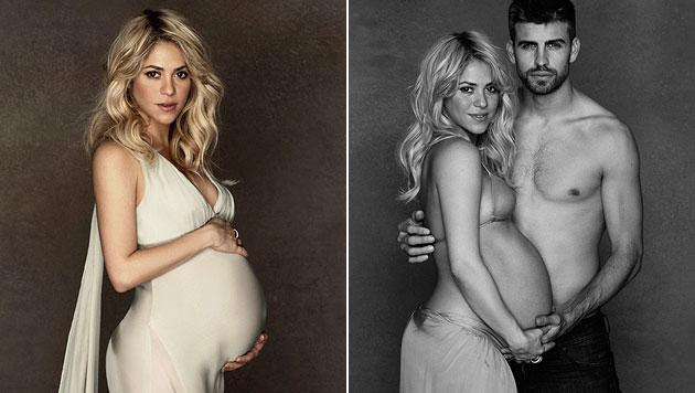 Vorfreude: Sch�ne Shakira zeigt stolz ihren Babybauch (Bild: dapd)