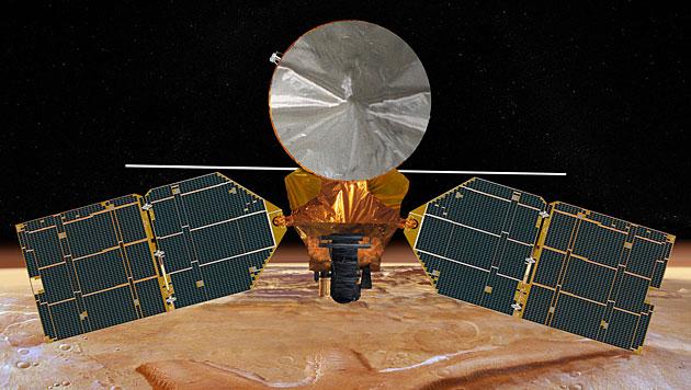 "K�nstlerische Illustration des ""Mars Reconnaissance Orbiter"" (Bild: NASA/JPL)"