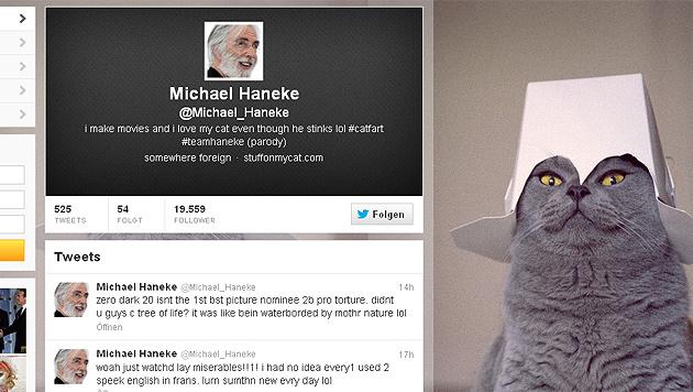 Scherzbold gibt sich auf Twitter als Michael Haneke aus (Bild: twitter.com/Michael_Haneke)