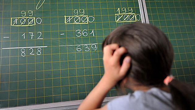 Studie: Motivation in Mathe wichtiger als Intelligenz (Bild: APA/dpa/Frank Leonhardt)