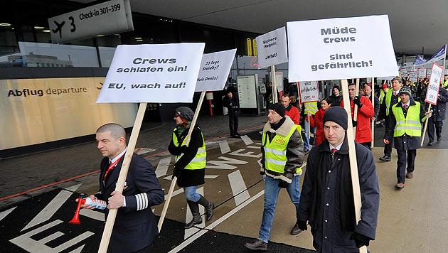 """EU-Pl�ne emp�ren Piloten: """"Ein Schlag ins Gesicht"""" (Bild: APA/Herbert Neubauer)"""