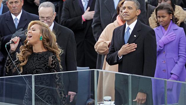 Beyonces Hymne f�r Obama kam nur vom Band (Bild: dapd)