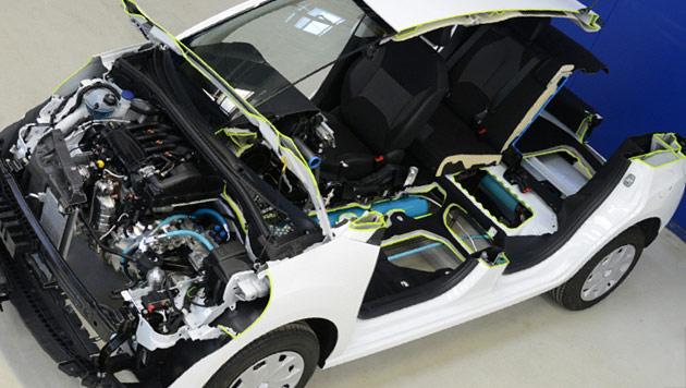 Hybridautos sollen künftig ohne Batterien fahren (Bild: PSA)