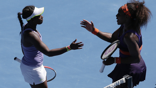 US-Teenie Sloane Stephens eliminiert Serena Williams (Bild: AP)