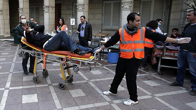 2. Jahrestag der Revolution: Tote und Verletzte (Bild: EPA)