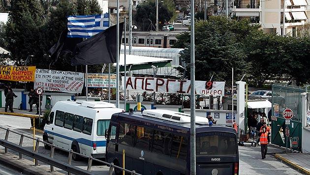 Athener U-Bahn-Streik nach neun Tagen beendet (Bild: EPA)