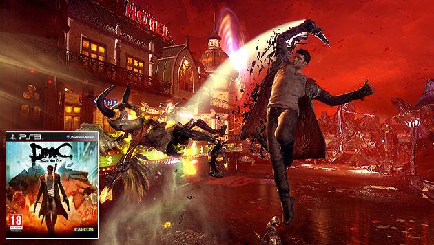 """Dante �berzeugt in """"DmC"""" mit neuer Frisur und Action (Bild: Capcom)"""